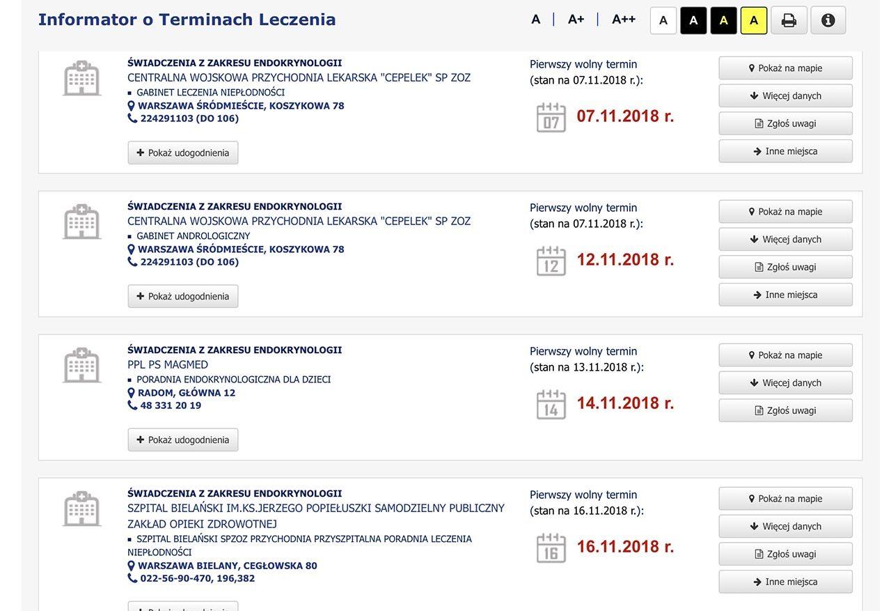 Pacjenci alarmują! Wyszukiwarka NFZ pokazuje daty wizyt z przeszłości 3