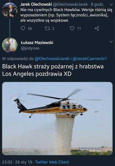 Wielka wpadka dyrektora TAI TVP w sprawie Black Hawków 3