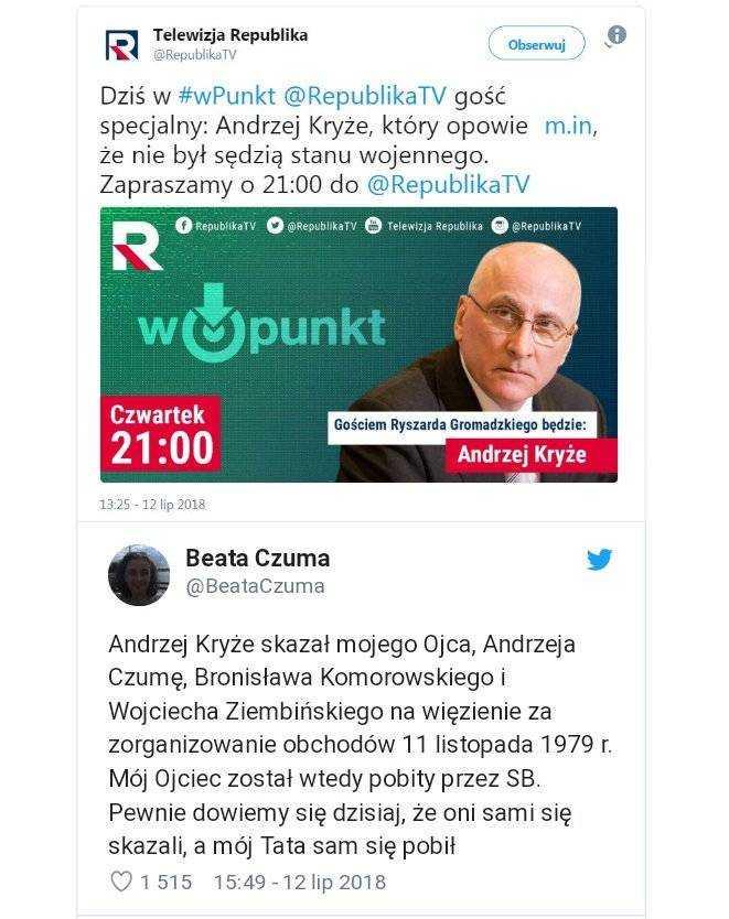 Pileckiego skazał na śmierć Roman Kryże. Jego syn, poseł PiS, skazywał demokratyczną opozycję! 5