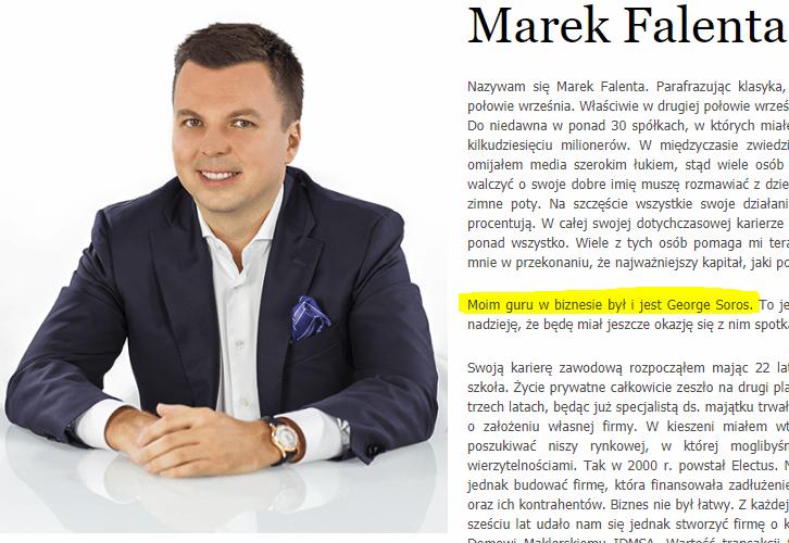 """Karnowscy mają prawdziwy zgryz. Idolem Marka Falenty był George Soros a to według nich on """"stoi za planem rozbicia Polski"""" 5"""