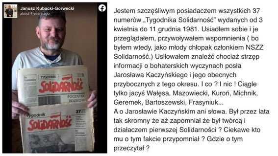 Działacz Solidarności ujawnia: Kaczyński i jego przyboczni nic dla Solidarności nie zrobili 3