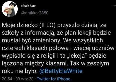 Młodzież masowo wypisuje się z lekcji religii. PiS chce doprowadzić do zniszczenia kościoła katolickiego w Polsce? 3