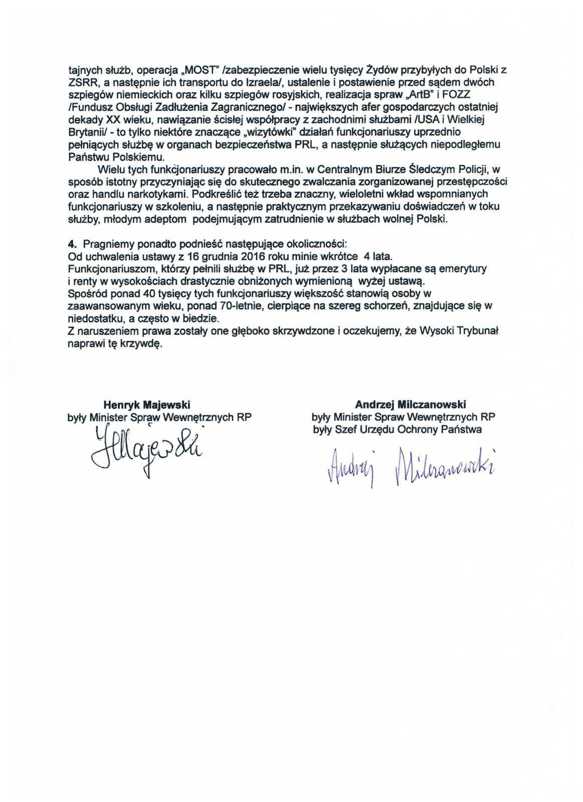 Ustawa represyjna: Milczanowski i Majewski piszą do TK o działaniach represyjnych i dyskryminacyjnych 6