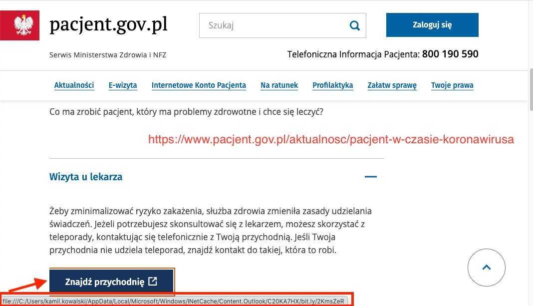 Wpadka Ministerstwa Zdrowia. Portal Pacjenta zawiera poważne błędy 3