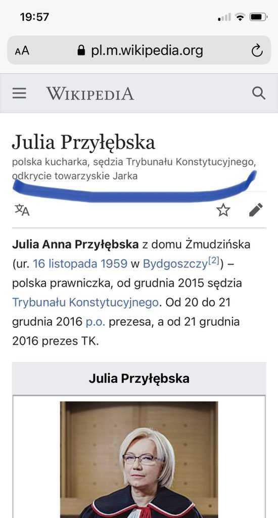 Kucharka Kaczyńskiego opisana w Wikipedii? 3