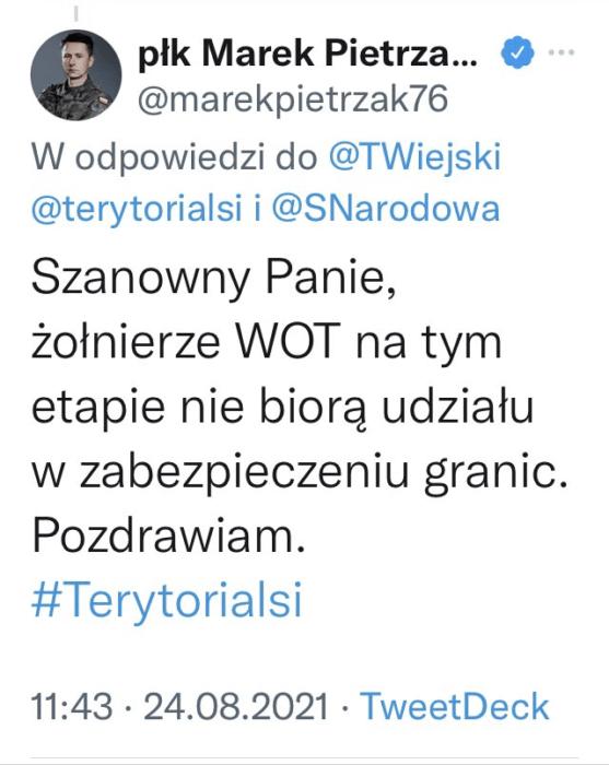 Wpadka propagandy PiS. Na granicy jednak są żołnierze WOT, przyznał to Morawiecki, jednak rzecznik formacji zaprzecza 3