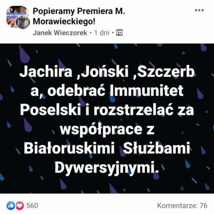 """Zwolennik PiS grozi morderstwem na posłach opozycji! """"Rozstrzelać"""" 3"""